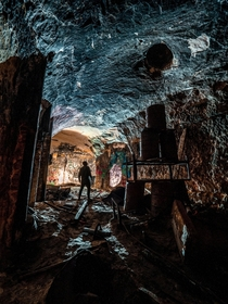 An abandoned brewery cave