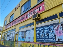 An abandoned CDROM Supermarket in Melbourne Victoria Once a port of exciting new technology it sits on a busy road where thousands of people pass it every day obsolete and disregarded