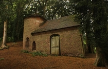 An abandoned chapel in some woods