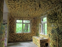 An abandoned childrens hospital in BerlinSomeone painted bananas all over an entire room