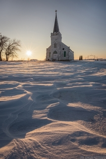 An abandoned church in rural Nebraska