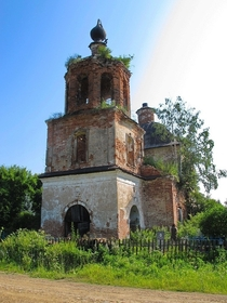 An abandoned church in the Yaroslavl region Russia