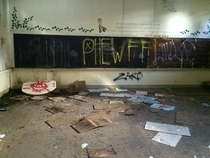 An Abandoned Classroom in Los Gatos CA