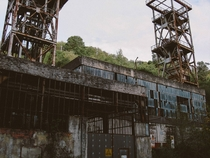 An abandoned coal mine in Asturias Spain