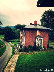 An abandoned cottage at Sweet Springs Sanitarium in Monroe County WV