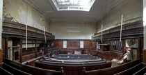 An abandoned Crown Court courtroom Sheffield UK