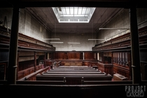 An abandoned Crown Court in Sheffield UK