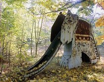 An abandoned elephant slide inside the Chernobyl exclusion zone Photograph by David McMillan