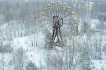 An abandoned ferris wheel in Pripyat Ukraine  Photographed by David de Rueda