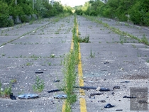 An abandoned fragment of the mother road Route  in McCook IL