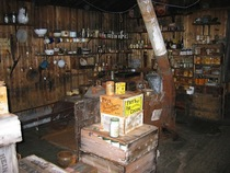 An abandoned fully stocked kitchen used by Ernest Shackletons a polar explorer who led three British expeditions in the Antarctic Left untouched since the Imperial Trans-Antarctic Expedition of