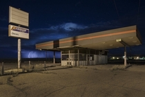 An abandoned gas station in Utah