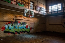 An abandoned gymnasium in Gary Indiana