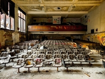 An abandoned highschool auditorium in Michigan