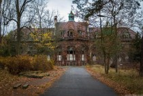 An abandoned hospital Beelitz Heilstaetten Germany Built