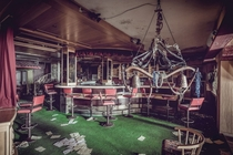 An abandoned hotel bar in Austria