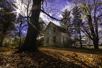 An abandoned house in Ontario surrounded by fallen leaves taken this past Sunday OC