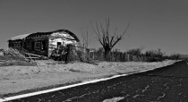 An abandoned house in the Mojave Desert California OC