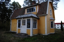 An abandoned house in Valbo outside of Gvle Sweden that belonged to a recluse strawberry grower who died back in