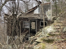An abandoned house on the side of Mount Beacon in Upstate NY
