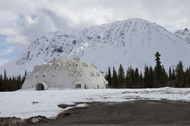 An abandoned igloo in Alaska