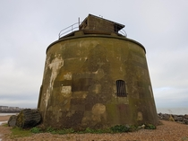 An abandoned Martello tower near Eastborne in the UK
