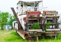 An Abandoned Mississippi Riverboat