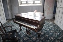 An Abandoned New York Nursing With a Grand Piano left Behind