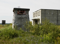 An abandoned nuclear research facility and the pillboxes guarding it