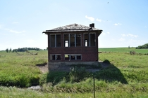 An Abandoned One-room Schoolhouse In Eastern South Dakota