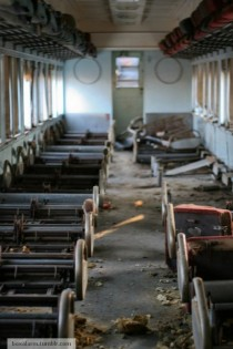 An abandoned passenger car in Grand Rapids Ohio