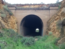 An abandoned rail tunnel in South Australia x