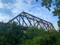 An abandoned railroad bridge in Tennessee