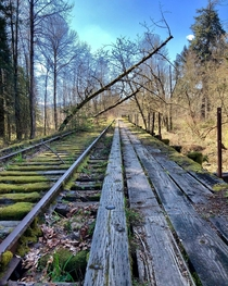 An abandoned railroad bridge just off the side of the road Snoqualmie WA