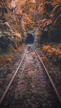 An abandoned railway tunnel in NSW Australia from the late s