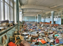 An abandoned Russian library Wonder if theres Dostoevsky among them this is like a crime