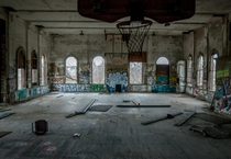 An abandoned school gymnasium outside of Pittsburgh Pa