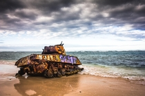 An abandoned Sherman tank lays rusting on Flamenco Beach on the small island of Culebra off the coast of Puerto Rico January   Photo credits to Leniel Velazquez