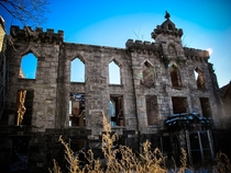An abandoned smallpox hospital on Roosevelt Island in New York City