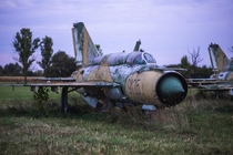 An abandoned Soviet era MIG- Fighter Jet