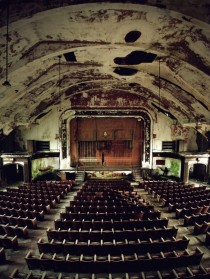 An abandoned theater in Norwich State Hospital in Connecticut
