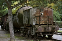 An abandoned Train at the Landschaftspark Duisburg -Nord