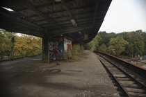 An abandoned train station