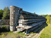 An abandoned tuberculosis sanatorium built in the s and located km North West of Paris France Shot with a DJI Mavic Air drone