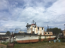 An abandoned Tugboat that I saw today