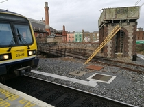 An abandoned turntable at Dublin Connolly train station