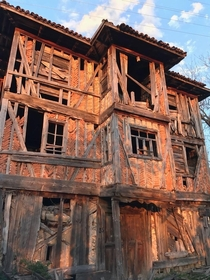 An abandoned village house from the late th century City of Kastamonu Northern Turkey