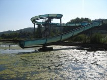 An abandoned water park on the island Villennes sur Seine