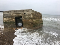 An abandoned WW bunker off the coast of northwestern Denmark One of the many small Nazi bunkers that were left untouched after the war