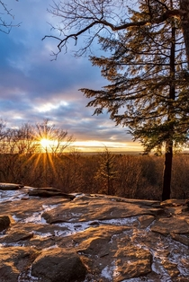 An absolutely epic sunset at one of my favorite places on the planet Virginia Kendall Ledges in Cuyahoga Valley National ParkOhio